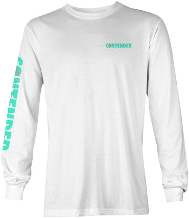 Contender Seafoam White Long Sleeve T Shirt