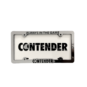 Contender Chrome Face License Plate Frame - Black / Chrome