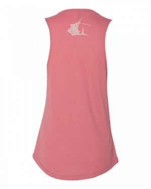 Contender Ladies Word Flow Desert Pink Tank