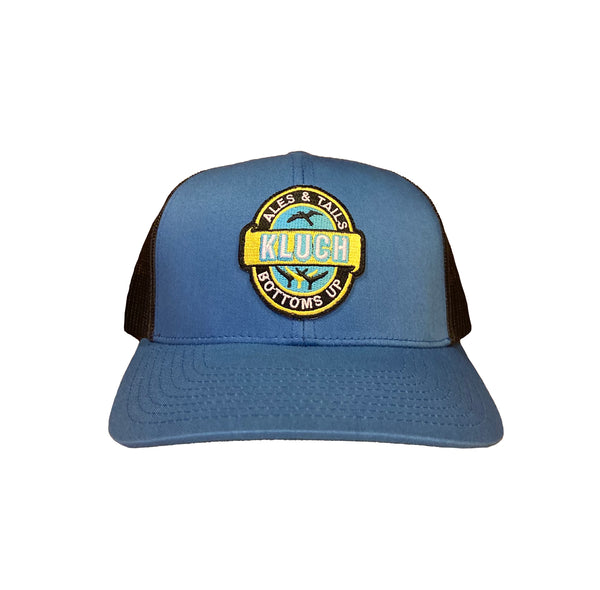 Kluch Ales & Tails Ocean Blue / Charcoal Trucker Hat
