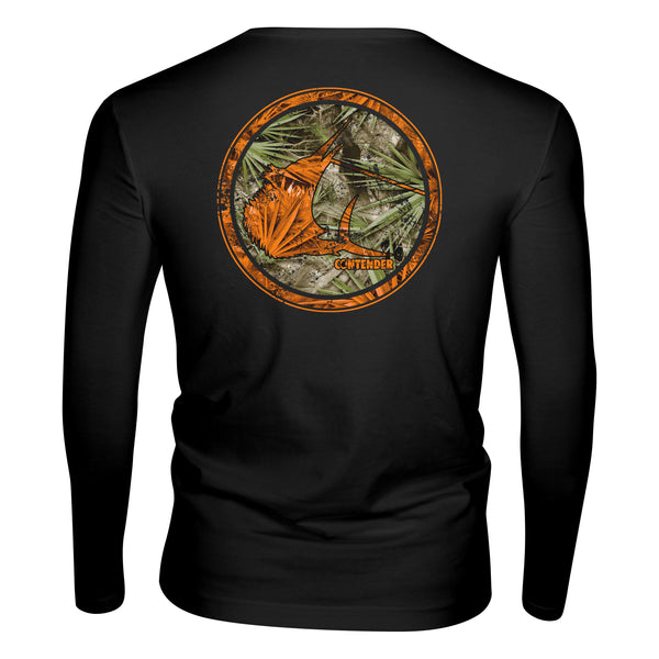 Contender Florida Camo Rounder Black Performance Long Sleeve Shirt