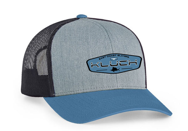 Kluch East Coast Slayers Heather Grey/Ocean Blue Trucker Hat