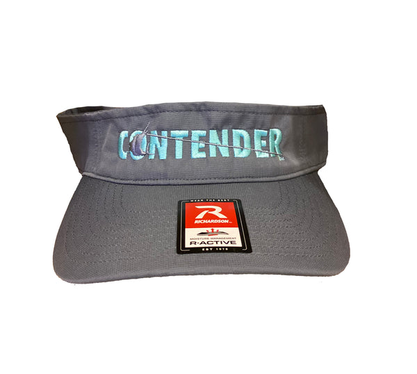 Contender Charcoal visor with Seafoam Logo