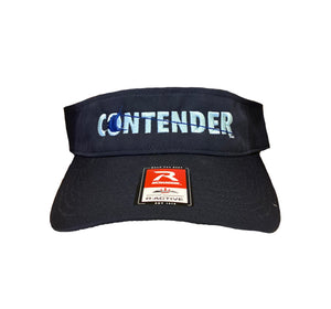 Contender Navy Visor with Ice Blue Logo