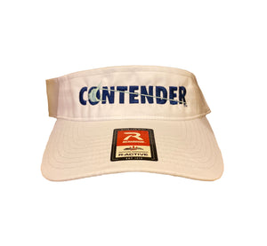 Contender White Visor with Ice Blue  Logo