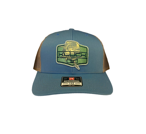 Kluch Dolly Lama Columbia Blue / Khaki Trucker Hat