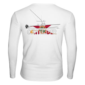 Contender Florida 39' White Performance Long Sleeve T Shirt