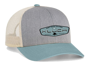 Kluch East Coast Slayers Heather Grey/Smoke Blue Trucker Hat