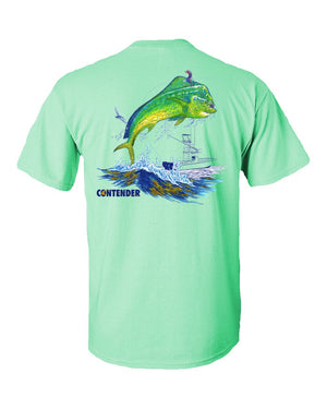 Contender Men's Dolphin Mint Green Short Sleeve T Shirt