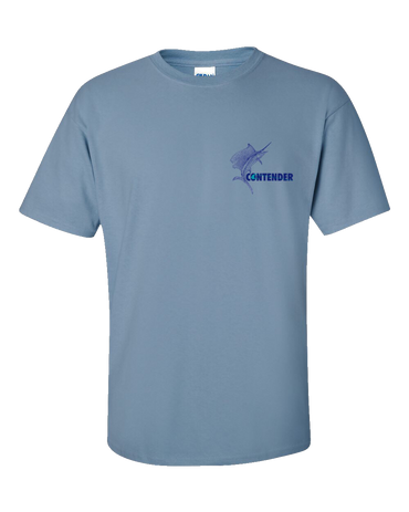 Contender Men's Stone Blue Sailfish Short Sleeve T Shirt