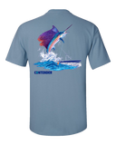 Contender Men's Stone Blue Sailfish Short Sleeve Tee