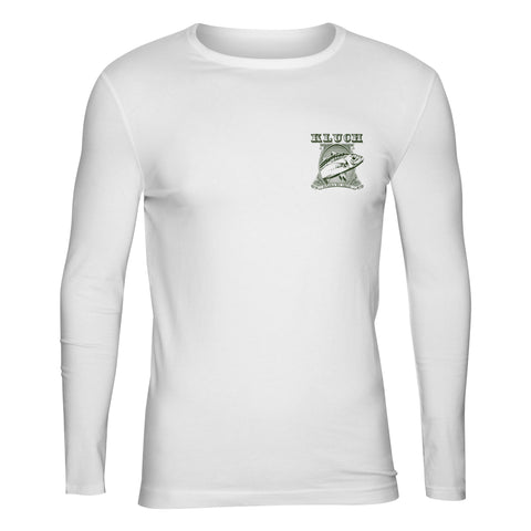 "Kluch Kids ""In Gogs We Trust"" White Performance Long Sleeve T Shirt"