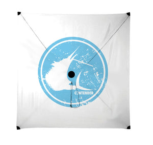 Contender Light Blue Rounder Light Wind Kite