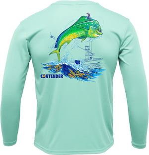 Contender Men's Seafrost Dolphin Performance Long Sleeve T Shirt