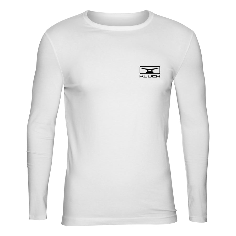 "Kluch ""Make It a Double"" Men's White Performance Long Sleeve T Shirt"