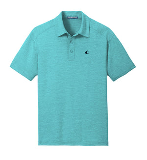 Contender Men's Digi Heather Performance Maui Blue Polo