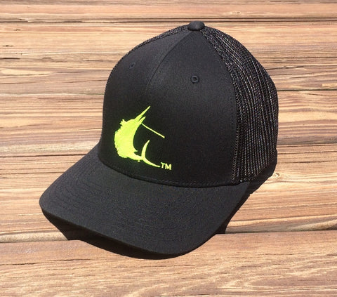 Contender High Vis Sailfish Icon Black Flexfit