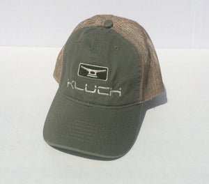 Kluch Signature Cleat Olive Green/Khaki Mesh Back Hat