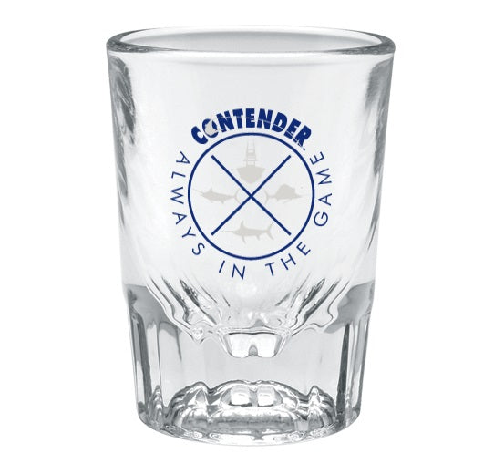 Contender Always In The Game 2oz Fluted Shot Glass