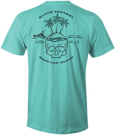 Kluch Beer Can Island Mens T Shirt