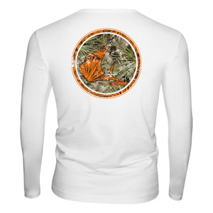 Contender Florida Camo Rounder White Performance Long Sleeve Shirt