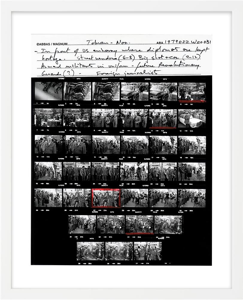Contact Sheet Print: Hostage crisis in Iran, 1979
