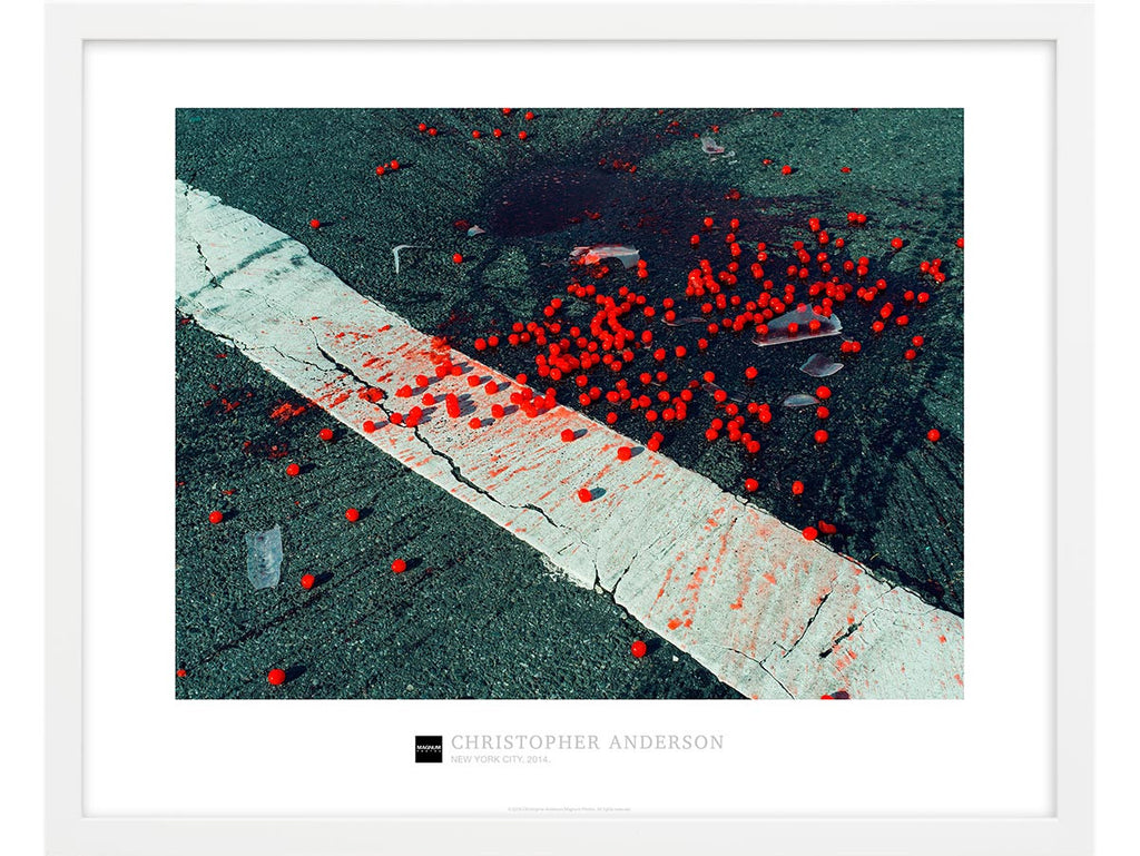 Magnum Collection Poster: Cherries on crosswalk. New York City. 2014.