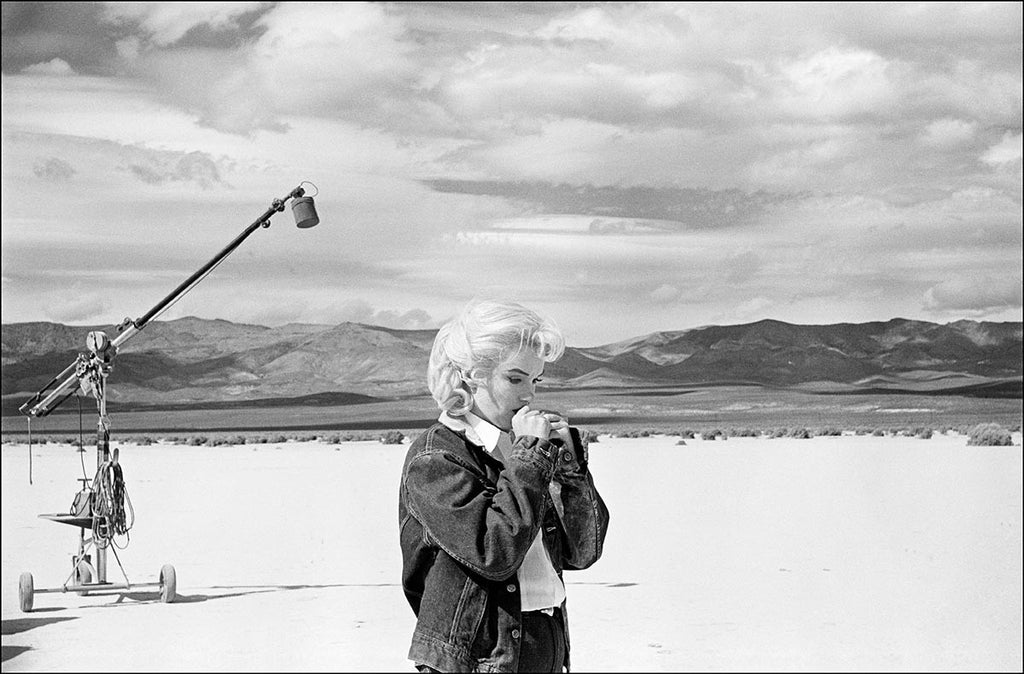 Marilyn Monroe in the Nevada desert during filming of