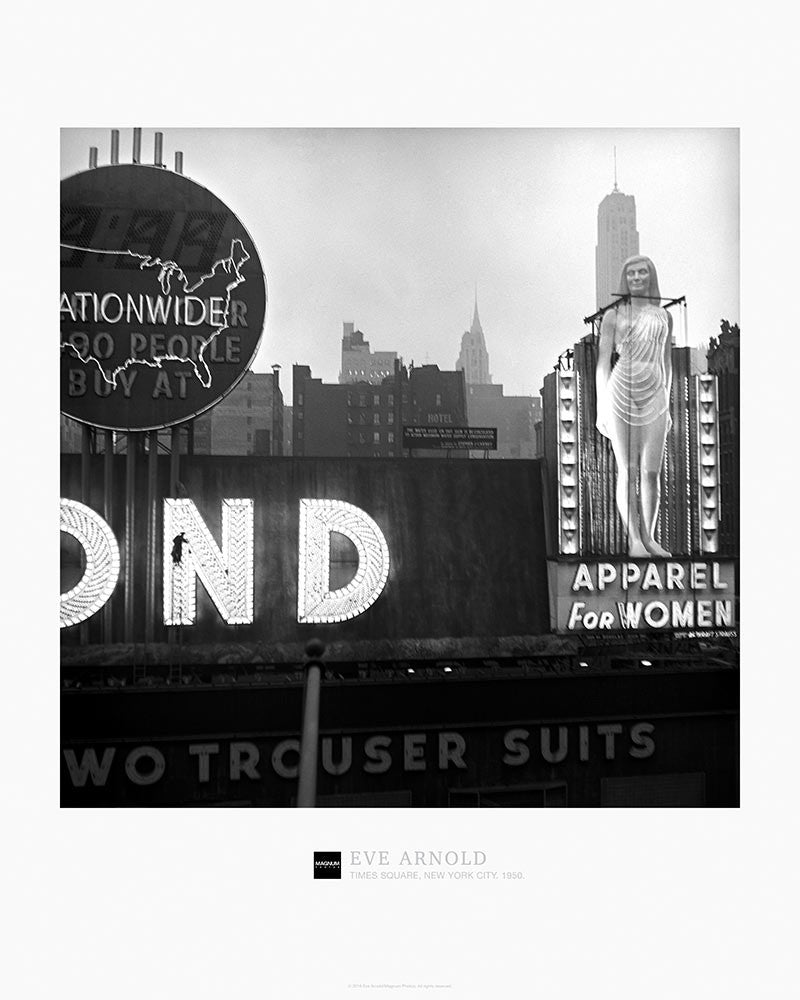 Magnum Collection Poster: Times Square, New York City. 1950.