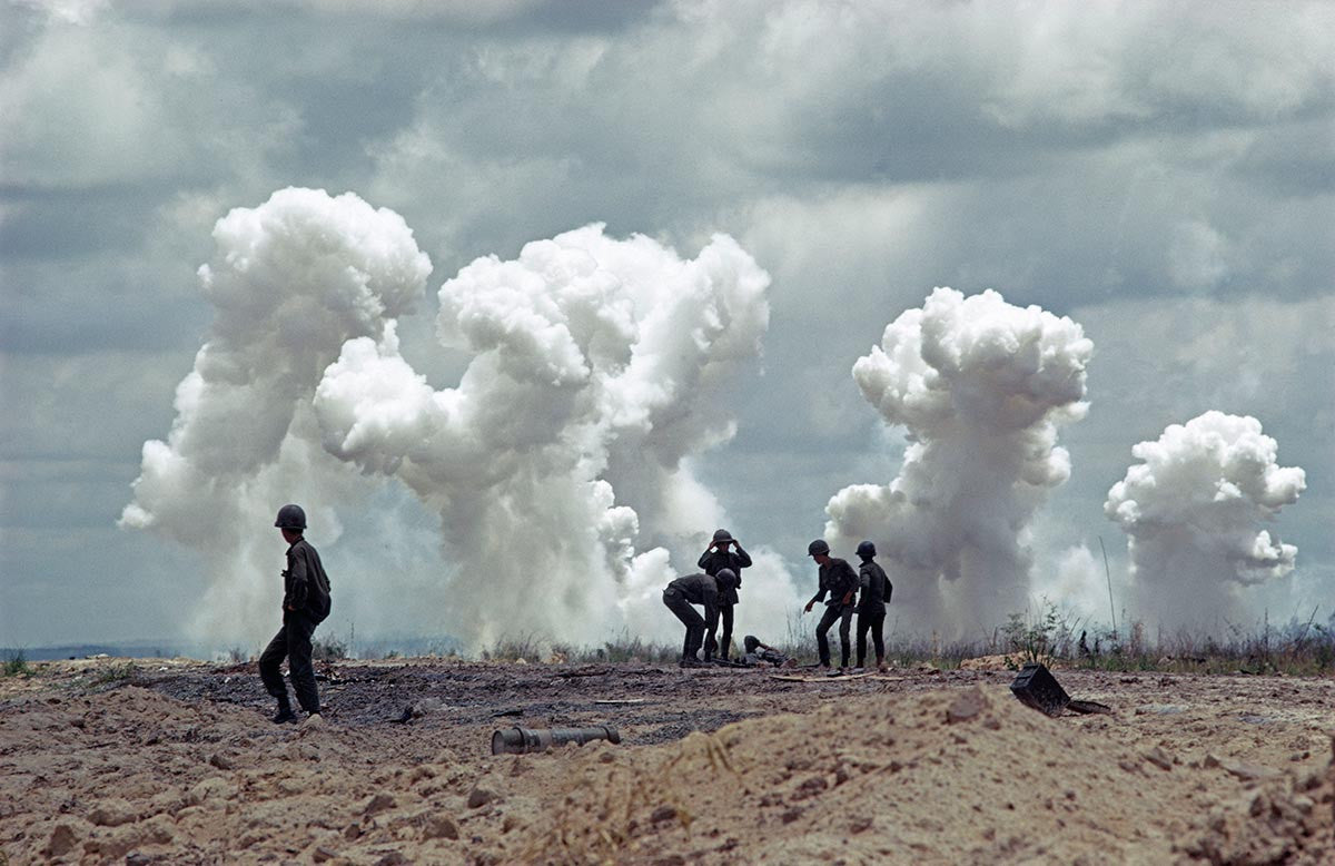US bombardment after the battle of An Loc. South Vietnam, 1972.