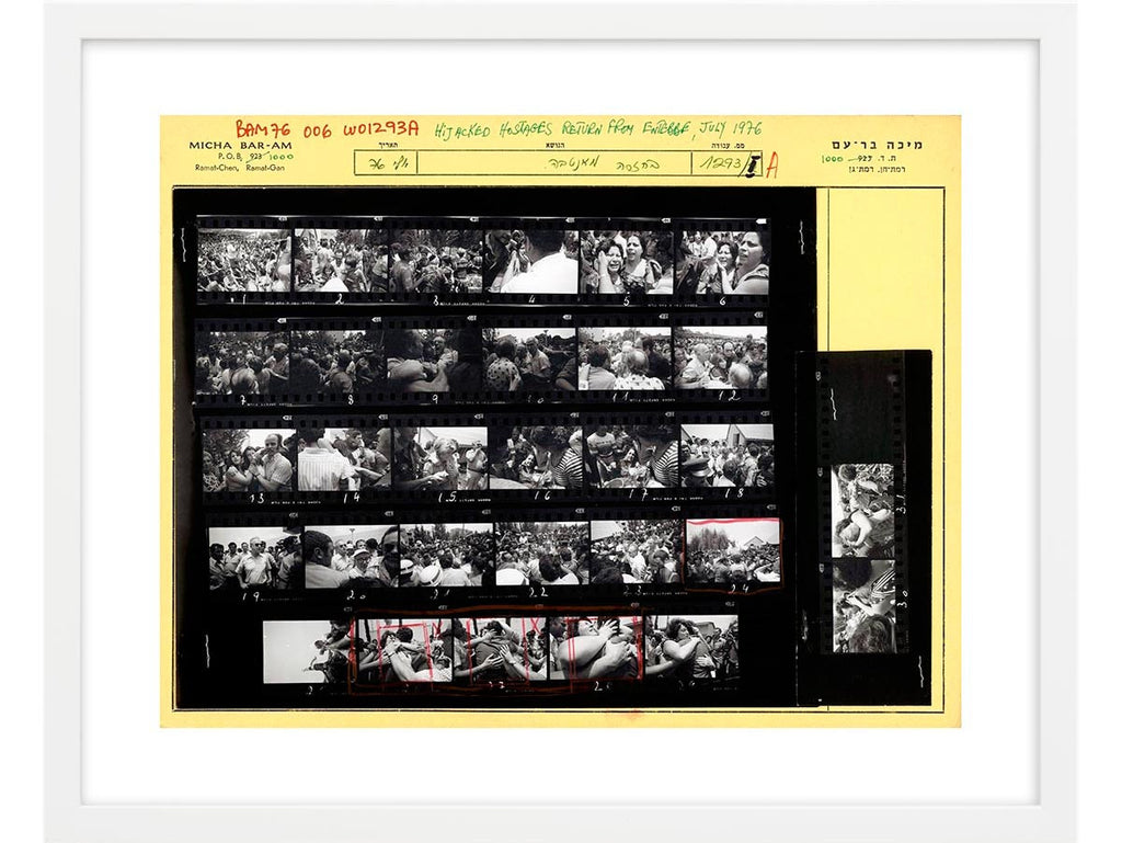 Contact Sheet Print: Hostages return from Entebbe. Israel, 1976
