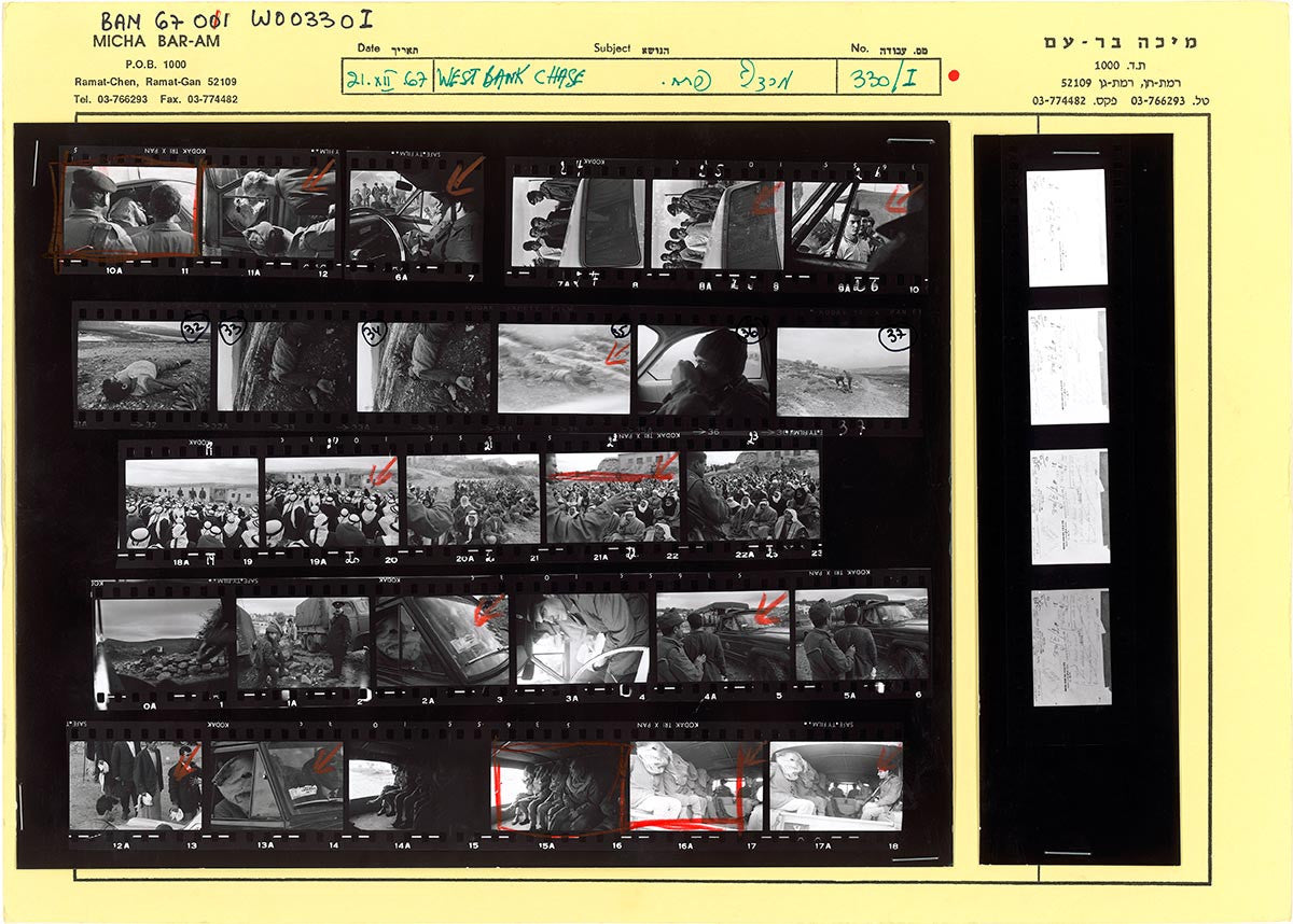 Contact Sheet Print: Samaria, Israel, 1967