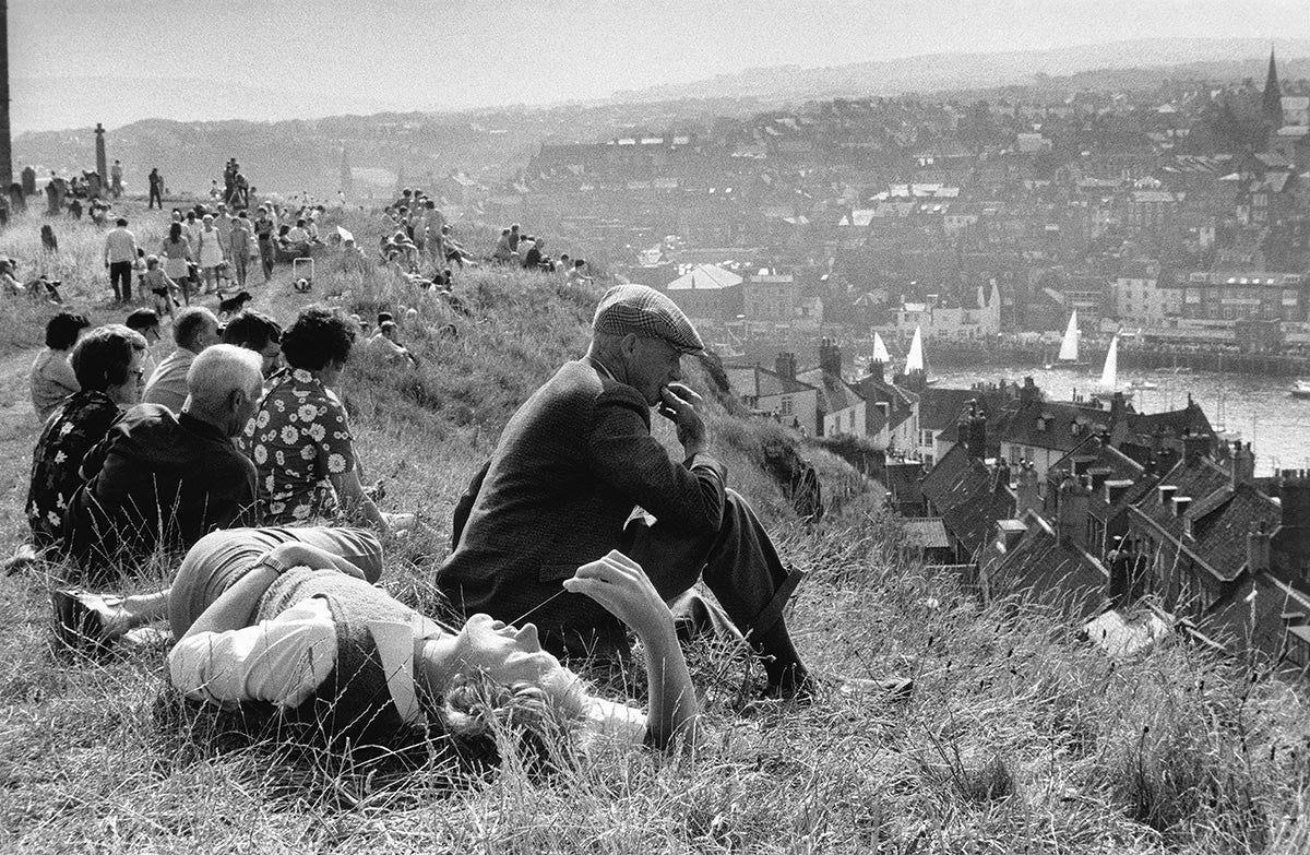 Overlooking Whitby harbour. England. 1974.