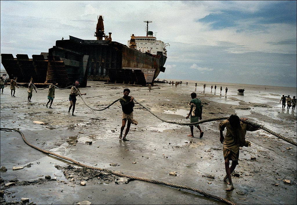 Ship-breaking yard. Chittagong, Bangladesh. 2000.