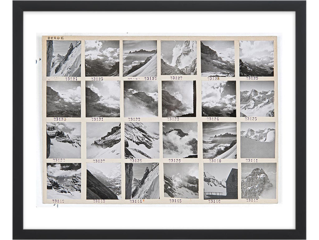 Contact Sheet Print: Swiss Mountain Peaks