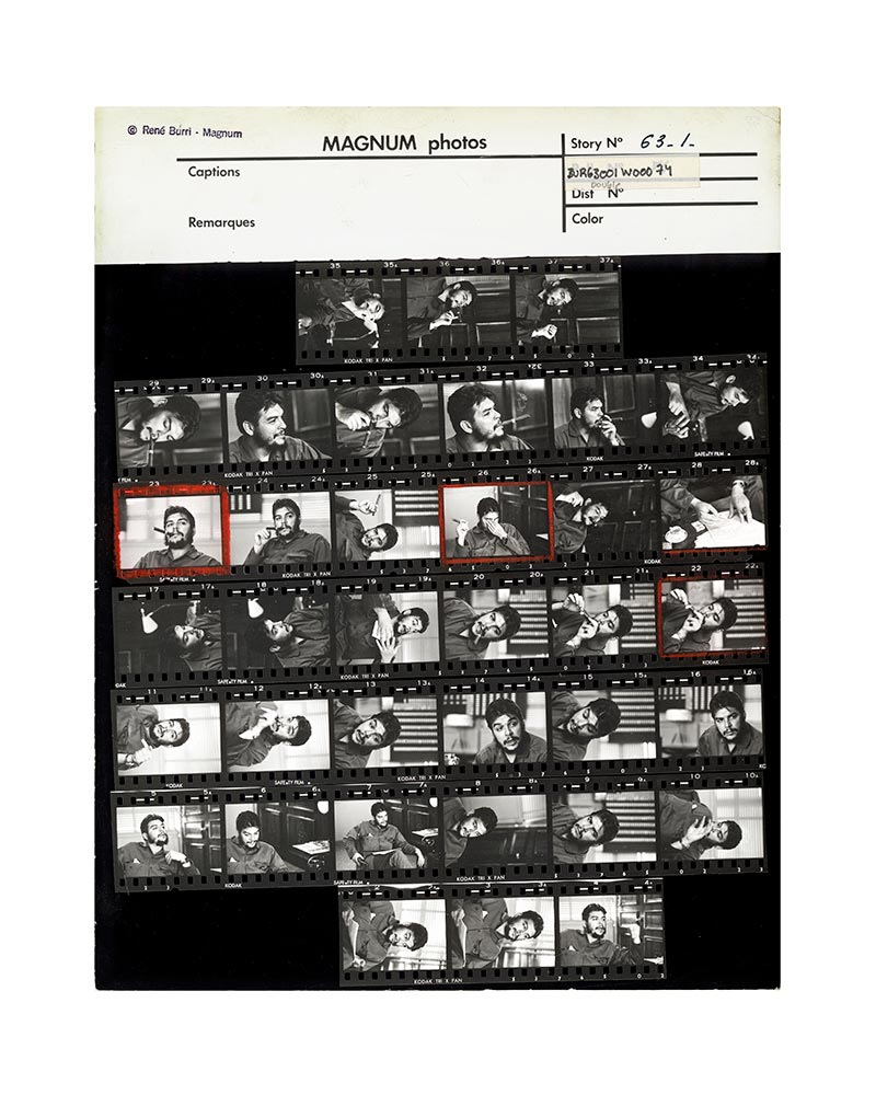 Contact Sheet Print: Che Guevara in his office, Cuba, 1963