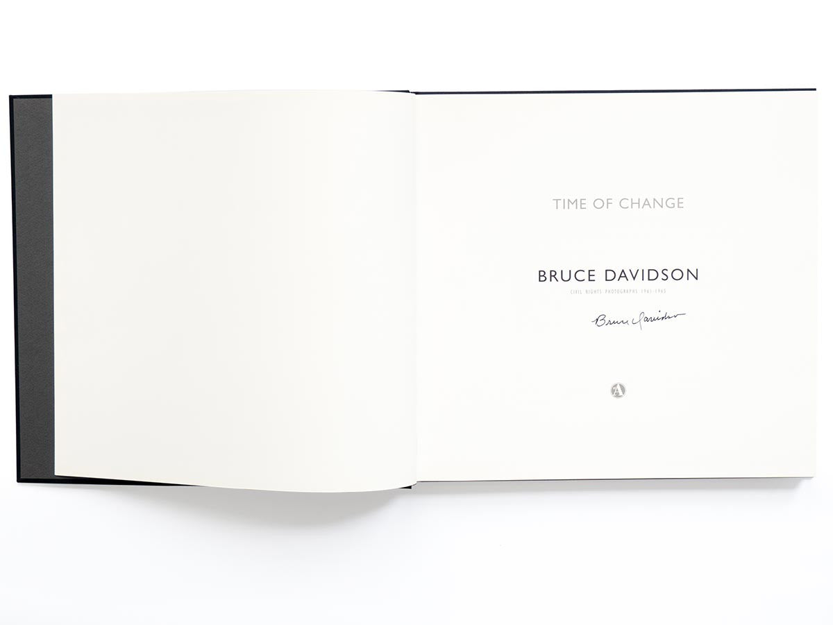Time of Change Book Signed by Bruce Davidson