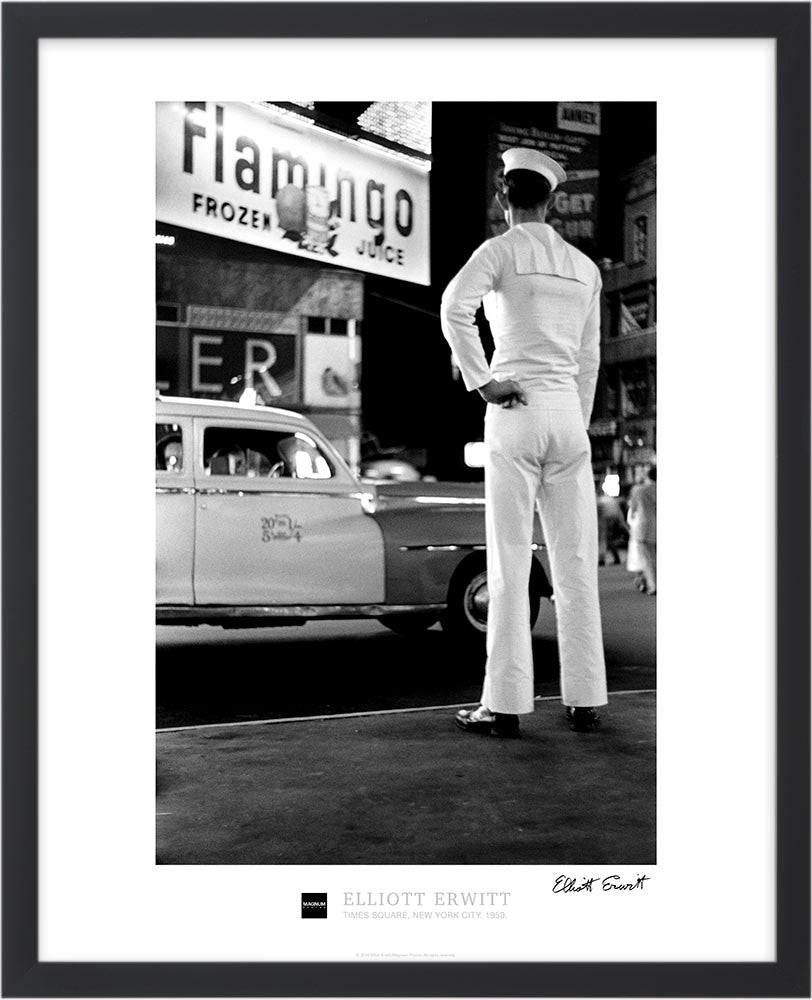 Signed Magnum Collection Poster: Times Square, New York City. 1950.