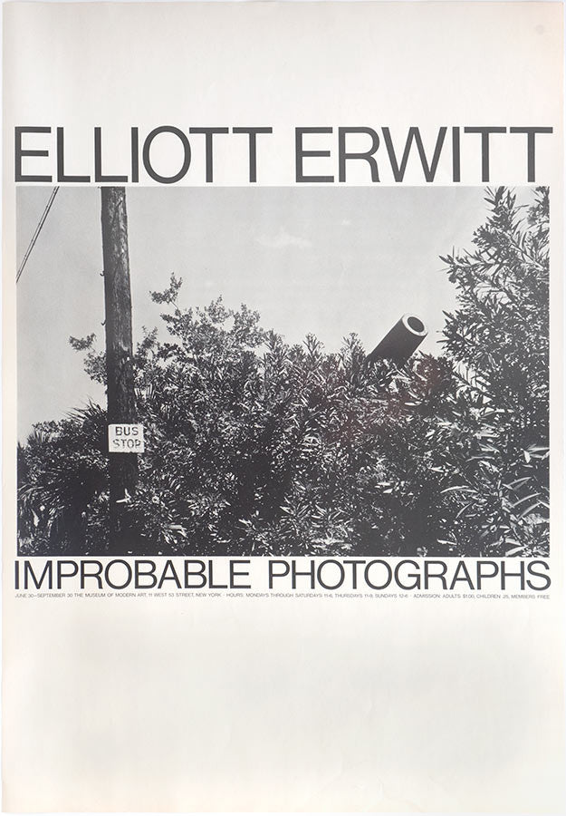 Vintage Poster: Elliott Erwitt Improbable Photographs - The Museum of Modern Art 1965