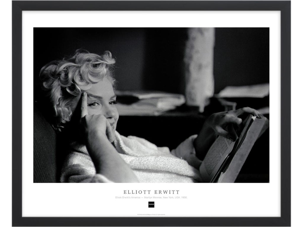 Magnum Collection Poster: Elliott Erwitt's America — Marilyn Monroe. New York, USA. 1956.