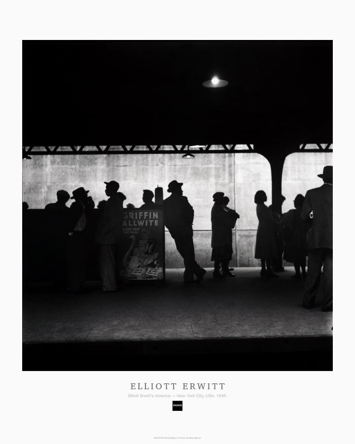 Magnum Collection Poster: Elliott Erwitt's America — New York City, USA. 1948.
