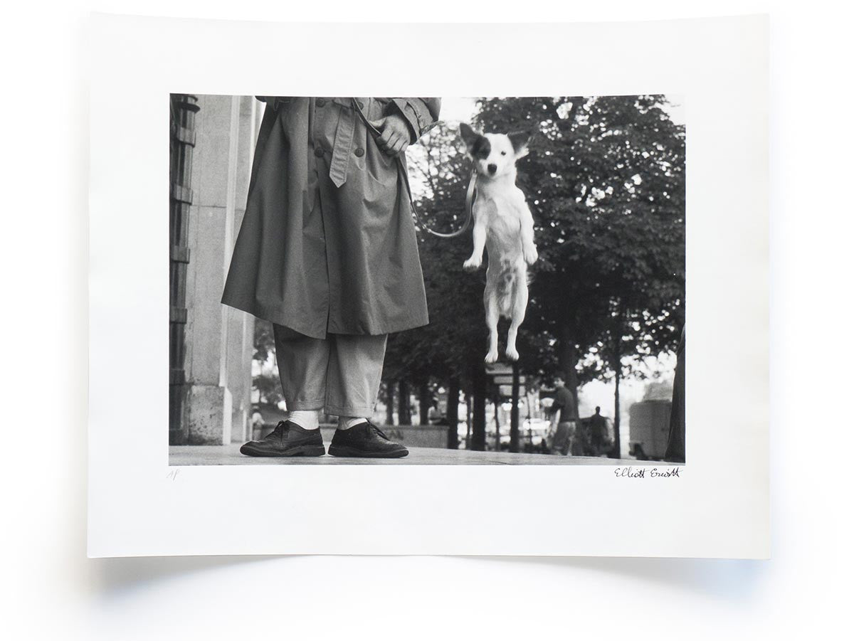 Elliott Erwitt Snaps Collector's Edition Signed Print of Paris, 1989