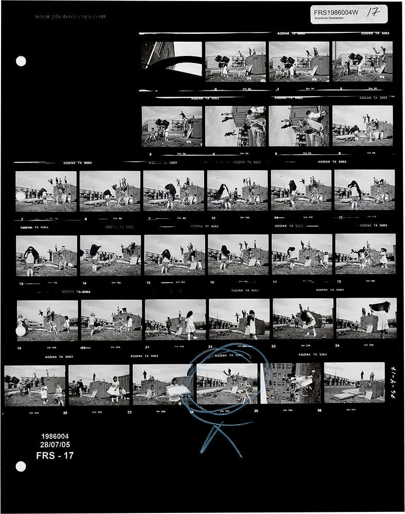 Contact Sheet Print: Manchester, England, UK, 1986