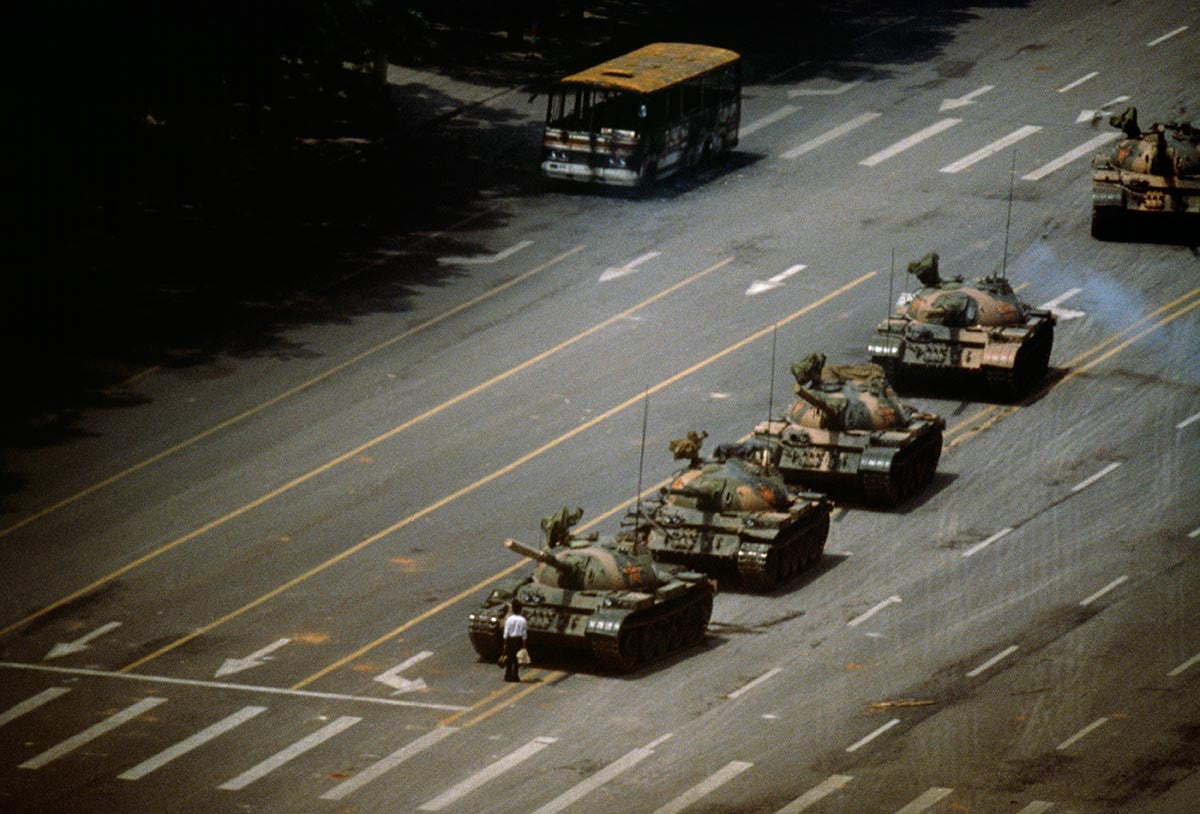 The Tank Man. Tiananmen Square, China. 1989.
