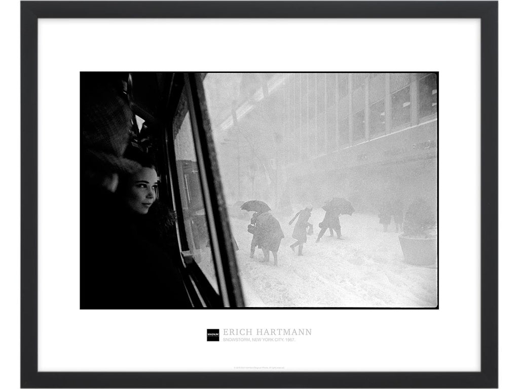 Magnum Collection Poster: Snowstorm. New York City. 1967.