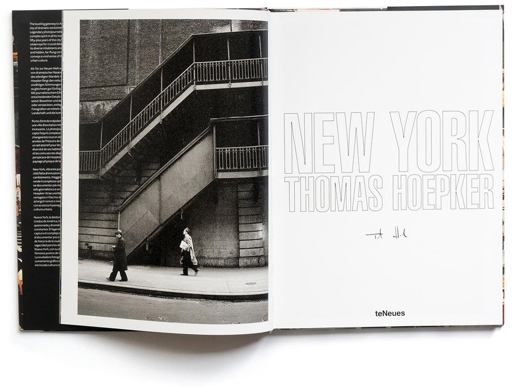 New York Book Signed by Thomas Hoepker