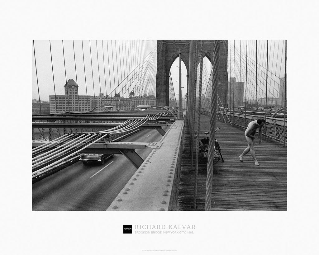 magnum collection poster brooklyn bridge new york city 1969 magnum photos. Black Bedroom Furniture Sets. Home Design Ideas