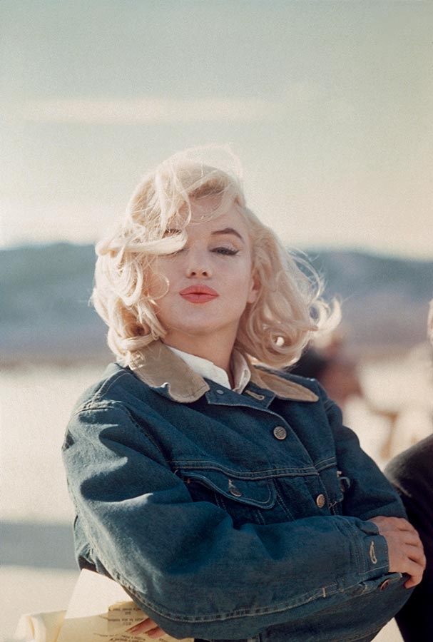 Marilyn Monroe during the filming of