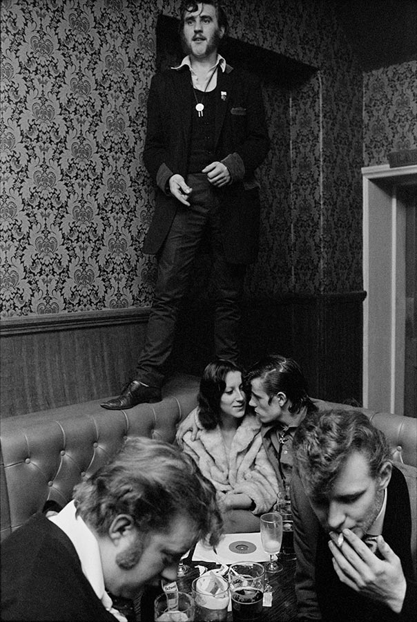 Barry Ransome in The Castle. Old Kent Road, England. 1976.
