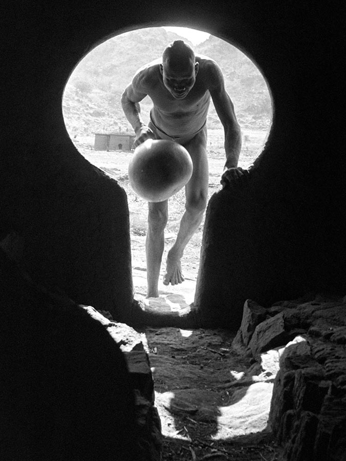 Keyhold entrance to a Nuba house in the Korongo Jebels. Sudan. 1949.